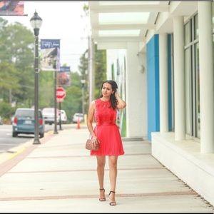 ASOS red pleated mini dress ❤️❤️❤️❤️